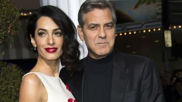 George Clooney et sa femme Amal à Hollywood en 2016