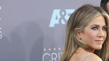 Jennifer Aniston et son mari Justin Theroux, en janvier 2016.