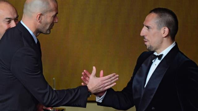 Franck Ribéry et Zinedine Zidane