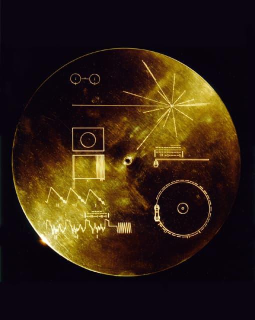 La pochette du Golden Records, gravée sur de l'or il y a 40 ans.