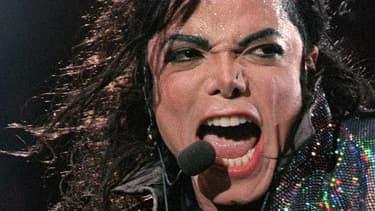 Michael Jackson, en concert à Wembley en 1992.