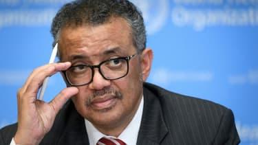 Le directeur général de l'OMS, Tedros Adhanom Ghebreyesus, lors d'une conférence de presse au siège de l'OMS à Genève le 11 mars 2020 (Photo d'illustration)