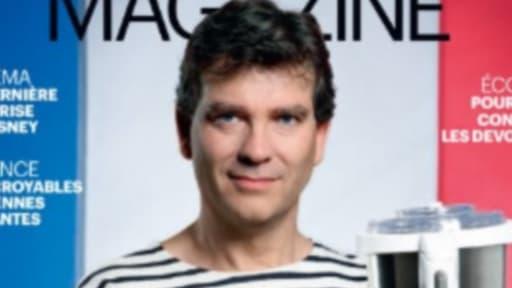 Arnaud Montebourg pose en Une et en marinière pour le Parisien magazine de vendredi.