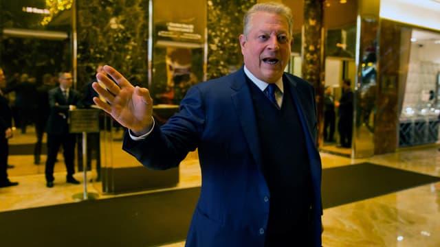 Al Gore dans la Trump Tower, le 5 décembre.