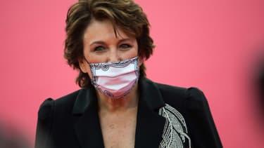 Roselyne Bachelot peu avant la cérémonie d'ouverture du 46e festival du cinéma américain de Deauville, le 4 septembre 2020
