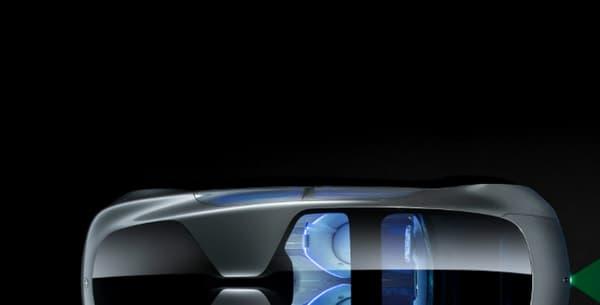 La présentation du système sur le concept de véhicule autonome de Mercedes, le F015