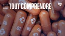 Des capsules de molnupiravir, le médicament antiviral oral expérimental contre le Covid-19, développé par le laboratoire Merck.
