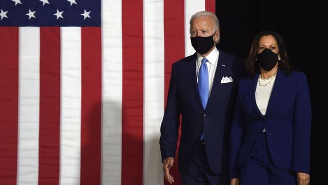Joe Biden et Kamala Harris Biden à Wilmington, dans le Delaware, mercredi 12 août