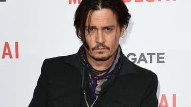 """L'acteur américain Johnny Depp lors de la première du film """"Mortdecai"""" à Hollywood en janvier 2015."""