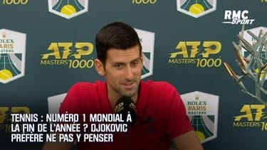 Tennis : Numéro 1 mondial à la fin de l'année ? Djokovic préfère ne pas y penser