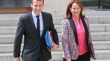 Emmanuel Macron et Ségolène Royal le 3 août 2016
