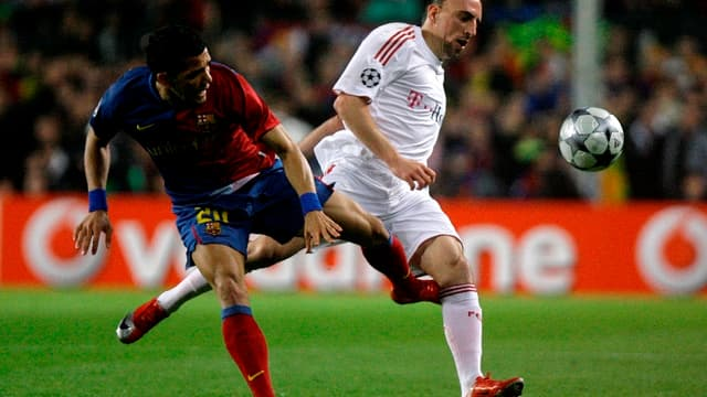Daniel Alves et Franck Ribéry