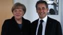 Image de la rencontre au siège de la CDU entre Angela Merkel et Nicolas Sarkozy, le 26 janvier 2015.