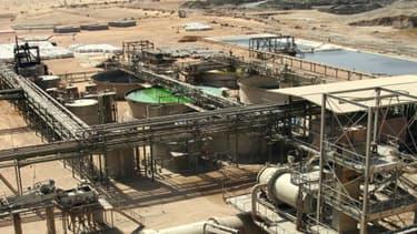 Une partie du site de la mine d'uranium Somaïr d'Areva à Arlit, au Niger.