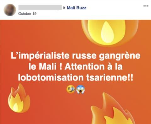 Capture d'écran partagée par Facebook