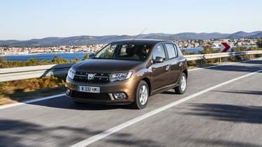 La Dacia Sandero arrive en tête des ventes aux particuliers dans une majorité de départements depuis le début de l'année.