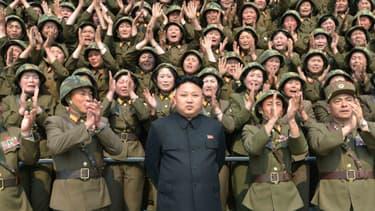 Photo non datée de Kim Jong-Un, diffusée le 24 avril dernier par la Corée du Nord. (Photo d'illustration)