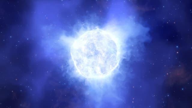 Une étoile variable lumineuse bleue de la galaxie de Kinman - Image d'illustration