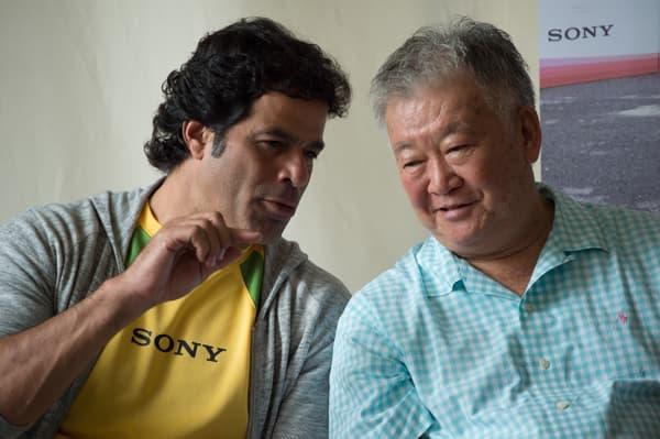 Sergio Echigo (à droite) avec la légende brésilienne Rai en 2014