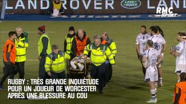 Rugby : Très grande inquiétude pour un joueur de Worcester après une blessure au cou
