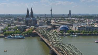 La ville de Cologne, en Rhénanie-Westphalie.