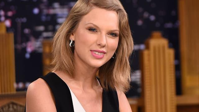 Taylor Swift, le 17 février 2015 au Tonight Show de Jimmy Fallon