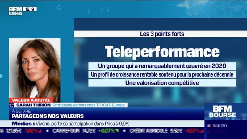 Sarah Thirion (TP ICAP Europe) : Teleperformance, un groupe qui a remarquablement oeuvré en 2020 - 25/01