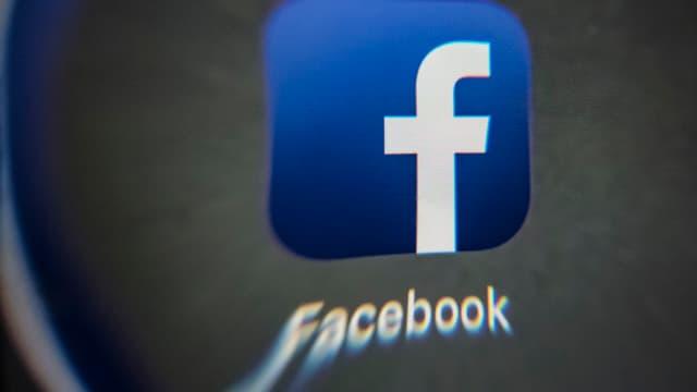 Le logo de l'application Facebook.