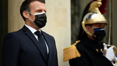 Emmanuel Macron à l'Elysée le 7 décembre 2020