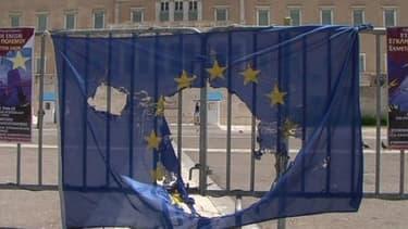 A Madrid, le drapeau européen a été malmené