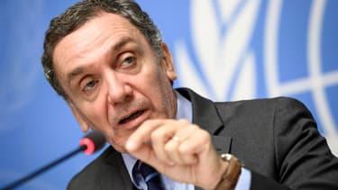Le président de la Commission d'enquête des nations unies sur les manifestations à Gaza, Santiago Canton, présente le rapport à la presse depuis Genève ce 28 février