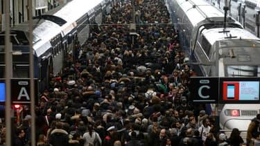 La Gare de Lyon, le mardi 3 avril 2018.