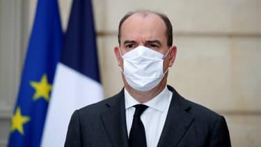 Jean Castex lors d'une conférence de presse à l'Elysée le 9 décembre 2020.
