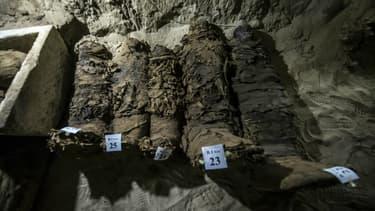 Des momies retrouvées récemment sur un site de la province de Minya en Egypte. (Photo 'illustration)