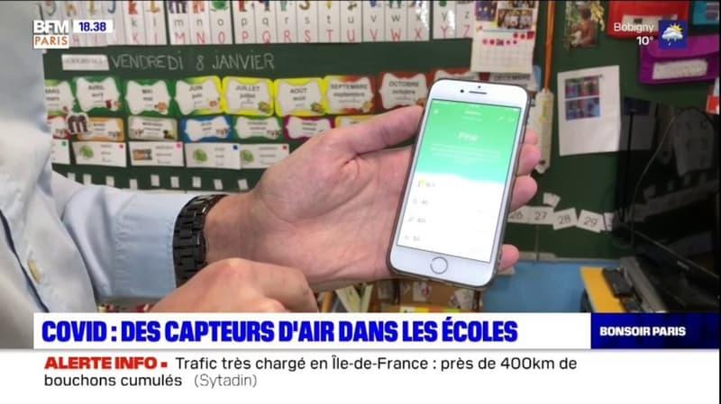 Paris: des capteurs d'air dans les classes pour lutter contre le Covid-19