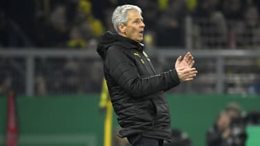 L'entraîneur suisse Lucien Favre lors du match Dortmund-Mönchengladbach, le 30 octobre 2019