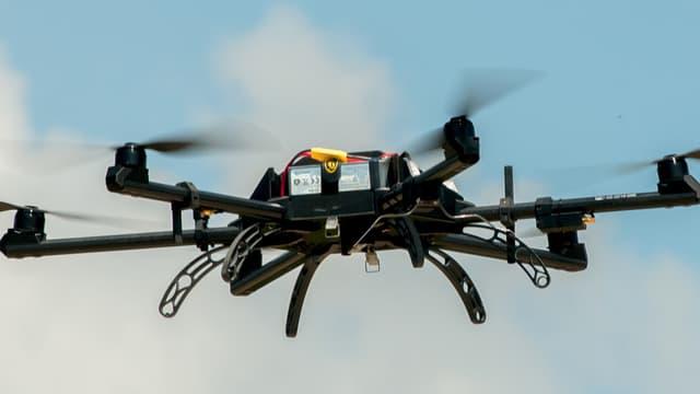 Un Neopter, le drone créé et utilisé par le Puy du Fou.