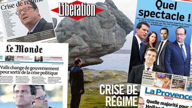 La presse du jour se déchaîne sur le remaniement politique.