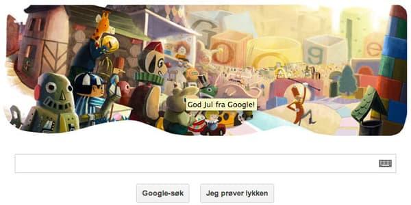 Le Doodle norvégien le 24 décembre