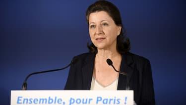 Agnès Buzyn s'exprime après les résultats du premier tour des municipales à Paris, le 15 mars 2020