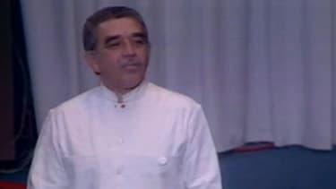 Gabriel Garcia Marquez, en 1982, lors de la remise de son prix Nobel.