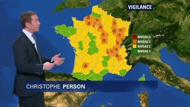Vigilance orange sur  23 départements encore ce mardi.