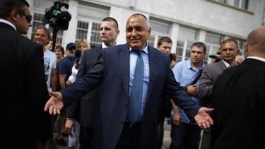 Le parti de centre droit GERB de l'ancien Premier ministre Boïko Borissov (photo) arriverait en tête des élections législatives de dimanche en Bulgarie, avec environ 31% des voix, devant le Parti socialiste crédité de 25 à 27% des suffrages, selon des son