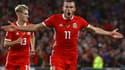 Gareth Bale a marqué le deuxième but du Pays de Galles face à l'Irlande.