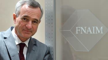 Le président de la Fnaim, Jean-François Buet, dénonce la suppression du paiement d'honoraires d'agences par les locataires.
