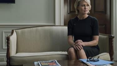 """Robin Wright dans le rôle de Claire Underwood, dans la série """"House of Cards""""."""