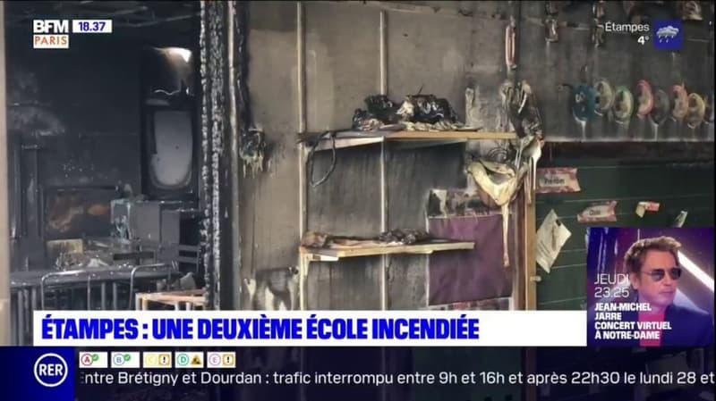 Étampes: une deuxième école incendiée en moins d'une semaine