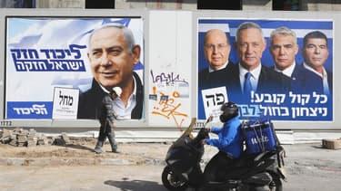 Des affiches électorales à Tel Aviv, le 3 avril dernier.