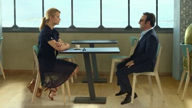 Virginie Efira et Jean Dujardin dans Un homme à la hauteur, de Laurent Tirard.