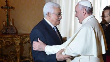 Le pape François reçoit Mahmoud Abbas, le 16 mai 2015